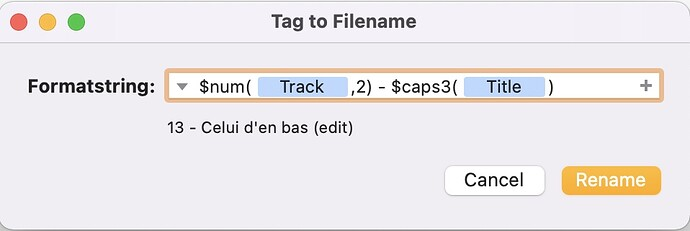 MP3tag MacOS
