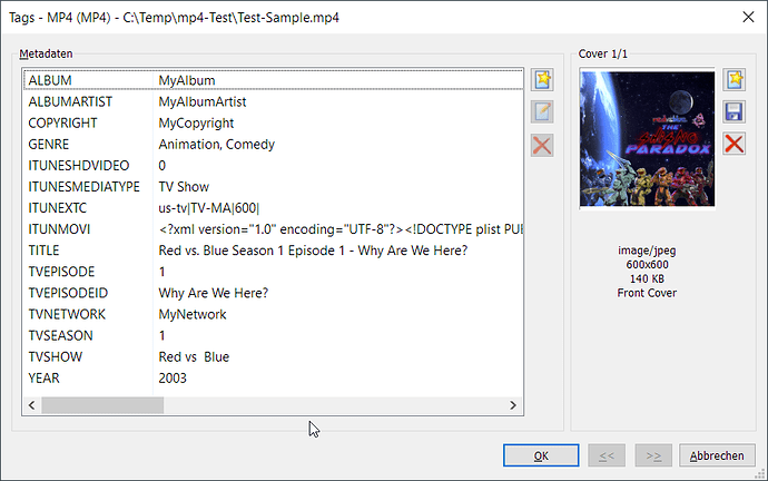 Visible Tags for MP4 in Mp3tag