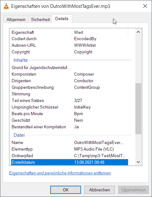 AttributesWindows File Explorer - Details #2