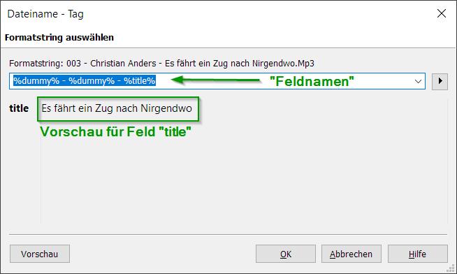 Konverter - Dateiname - Tag