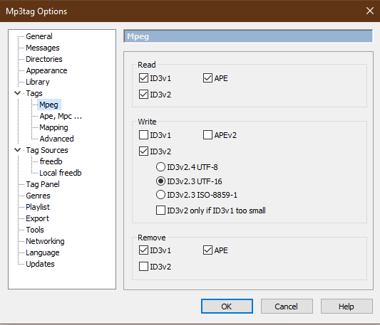 MP3Tag Options