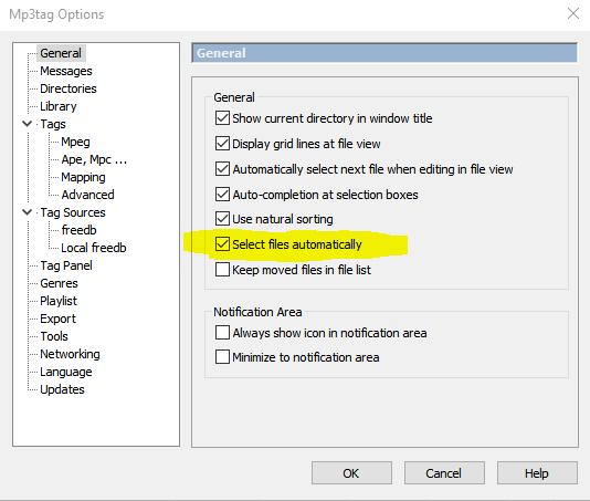 Select Files automatically